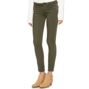 Paige Olive Green Jeggings